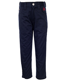 Gini & Jony Full Length Trouser With Belt - Navy Blue