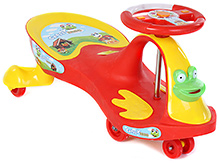 Toyzone Deluxe Magic Swing Car Red Rideon - Upto 35 Kg - 80 X 39 X 39 Cm