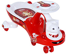 Toyzone Funny Bunny Magic Swing Car - Red N White - Carry Capacity Upto 35 Kg