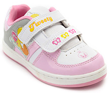Tweety Pink Sports Shoes - Printed Strap