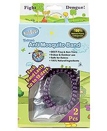 Runbugz Anti Mosquito Band Purple - Set Of 2 Pieces