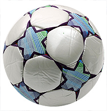 Fab N Funky Designer Football Star Print - White