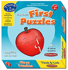 Sterling Tiny Hands First Puzzles 4 - Six Piece Puzzles