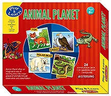Sterling Animal Planet - 24 Animal Picture Cards Plus 24 Questions Cards Plus 1 Bird Puzzle - 5 Years And Above