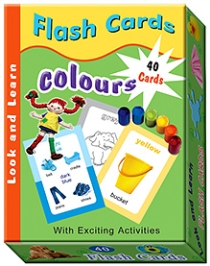 Sterling Flash Cards Colours 40 Cards - Flash Card Size 8 x 12 cm