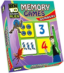 Sterling Ben 10 Ultimate Alien Memory Games Numbers - 64 Cards