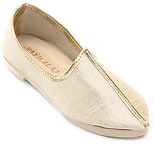 Cute Walk Plain Traditional Mojari Shoes - Cream