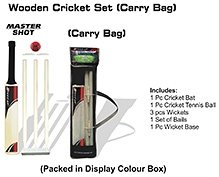 Speed Up Wooden Master Shot Cricket Set Boxed