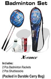 FORCE Badminton Racket Set Standard Size, Perfect set for sports enthusiasts