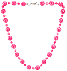 Stol'n Faceted Shape Bead Necklace - Fuchsia