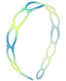 Stol'n Oval Ring Pattern Hair Band - Blue And Green