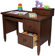 Lakdi Ki Kathi Wooden Darkedemia Study Table - 43 X 22 X 30 cm