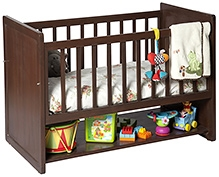 Lakdi Ki Kathi Wooden Hazel Heaven Crib - 42 X 27 X 30 Inch