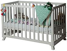 Lakdi Ki Kathi Wooden Silver Solace Crib - 54 X 30 X 36 cm