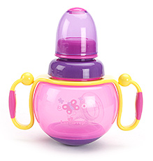 1st Step Feeding Bottle with Handle Pink - 260 ml