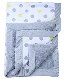 Mee Mee Polka Dots Print Grey Blanket - 100 X 74 Cm