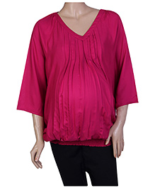 W Long Sleeves Tunic - Pink