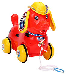 Luvely Pull Along Fantastic Red Puppy Toy - 28 x 14 x 23 cm