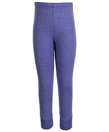 Torrido Self Stripe Design Thermal Legging - Blue