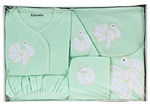 Child World Baby Clothing Gift Box Bird Design - Green