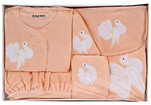 Child World Baby Clothing Gift Box Bird Design - Peach