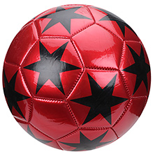 Fab N Funky Football Star Print - Red