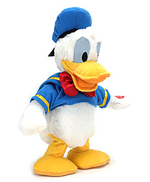 Disney Donald Duck Soft Toy With Walking And Singing Wings Module - 12.5 Inch