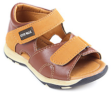 Cute Walk Dual Velcro Strap Sandal - Light Brown