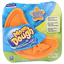 Zapak Moon Dough Magical Moulding Dough Single Disc Orange - 3 Years Plus - 42.5 Gm