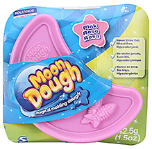 Zapak Moon Dough Magical Moulding Dough Single Disc Pink - 3 Years Plus - 42.5 Gm
