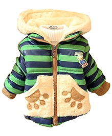 Little Hand Kids Girls Boys Teddy Coats Bear Jumpers Winter Jackets Green 120 Size 12 to 18 Months, Stylish hooded jacket which will keep your little...