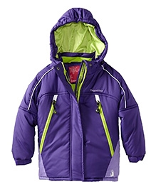 Rugged Bear Baby Girls Purple Color Block Winter Snow Ski Jacket Coat Size 12 to 24 Months, Warm and comfortable jacket for your little one