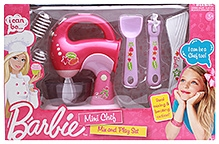 Barbie Mini Chef Mix And Play Set - 9 Pieces