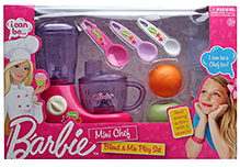 Barbie Mini Chef Blend And Mix Play Set - 10 Pieces