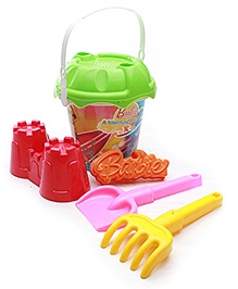 Barbie Small Bucket Set With Accessories Fun and colorful beach toy set for your child