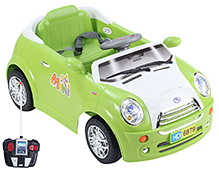 Battery Operated Mini Simulation RC Ride On - Green And White
