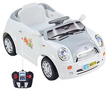 Battery Operated Mini Simulation RC Ride On - White