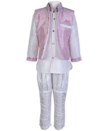 Babyhug Ethnic Kurta Chudidaar Pajama And Jacket Set
