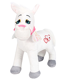 Dimpy Stuff Unicorn Horse White - Height 28 cm