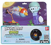 Angry Birds Space Lightning Bird Vs Frozen Helmet Pig Building Set - 5 Years Plus