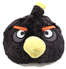 Angry Birds Black Bird Plush Toy - 10 Inches