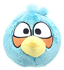 Angry Birds Blue Bird Plush Toy - 10 Inches