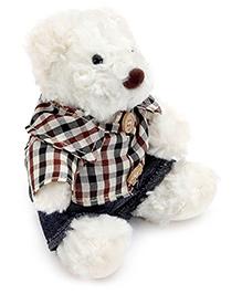 Play N Pets Bear With Checks Print Shirt And Shorts Soft Toy - 15 Cm