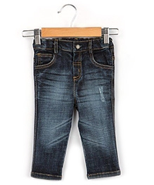 Beebay Torn Effect Denim - Blue