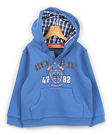 Beebay Sheild Logo Placket Sweatshirt - Blue