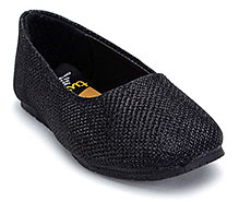Tweety Black Shimmering Party Slip On Shoes