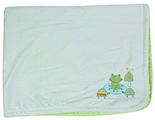 Mee Mee Green Blanket Frog Tortoise Patch - 76 X 100 cm