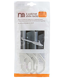 Mothercare Cabinet Slide Lock - Pack of 3