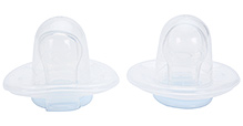 Mothercare Set Of 2 Clear Silicone Soothers - 5 cm