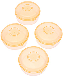 Mothercare Tiny Dining Large Freezer Pots - Pack Of 4